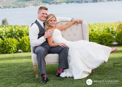 Image link to featured weddings. Image of bride and groom.